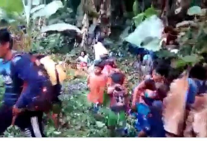 Indígenas desplazados en Bojayá, Chocó, en medio de la cuarentena nacional