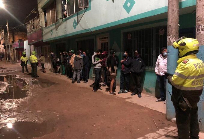 Operativos contra ciudadanos que violaron la cuarentena en Bogotá