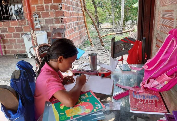 Estudiantes de zonas rurales reciben guías físicas, a falta de Internet