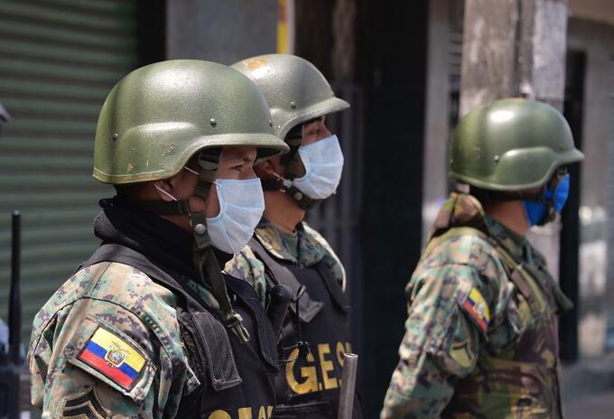 Militares y coronavirus en Ecuador