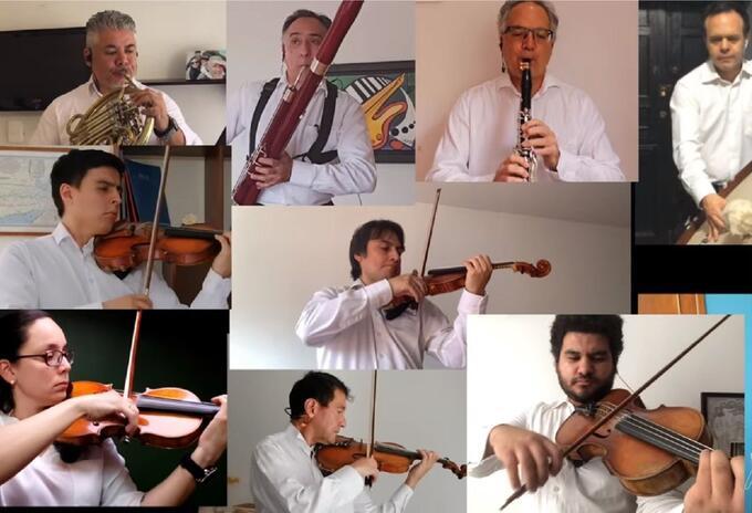 Orquestas del país se unen para interpretar el Himno Nacional