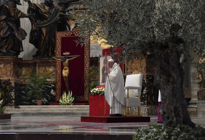 Papa en Domingo de Ramos