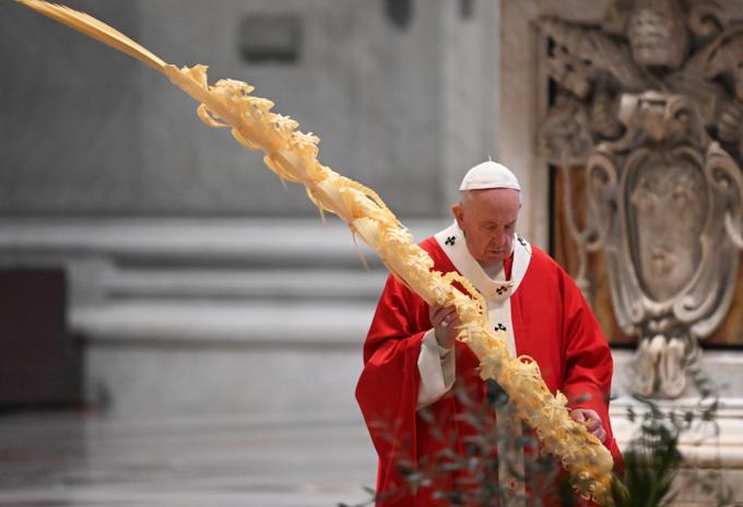 Papa Francisco en Domingo de Ramos