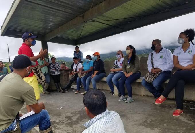 Reunión de las autoridades en Chocó con comunidades indígenas