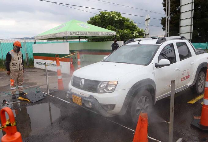 Desinfección de vehículos en Bogotá