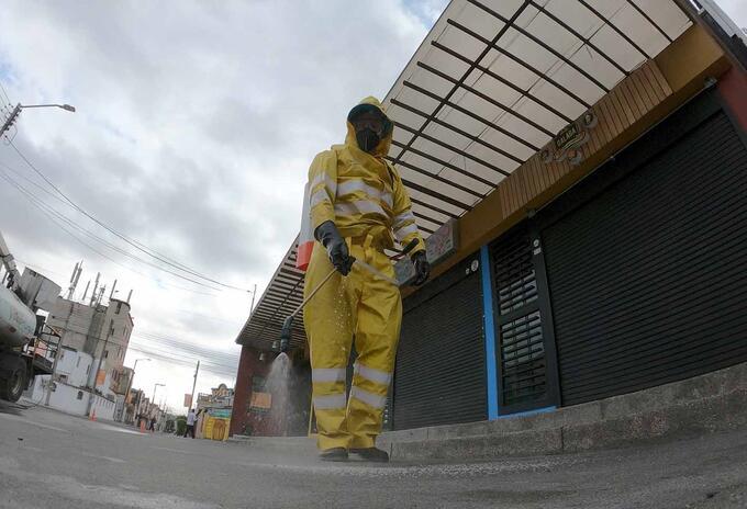 Limpieza de calles en Kennedy