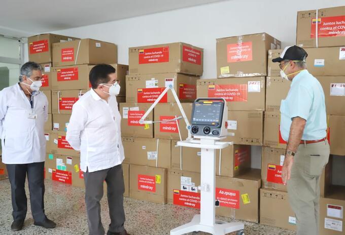 Minisalud entregó 29 ventiladores a Cartagena, para fortalecer la red hospitalaria