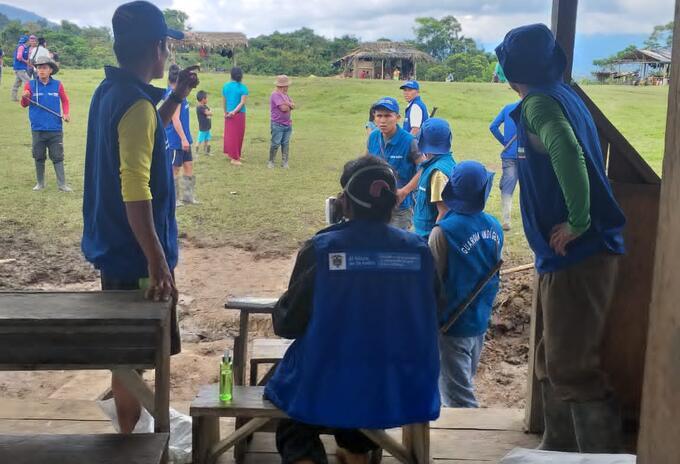 Entrega de ayudas humanitarias en Urrao, Antioquia