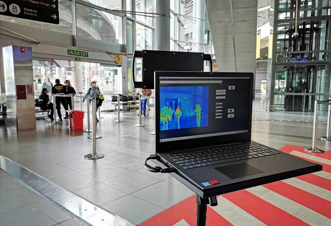 Instalan cámaras de medición térmica en el Aeropuerto El Dorado