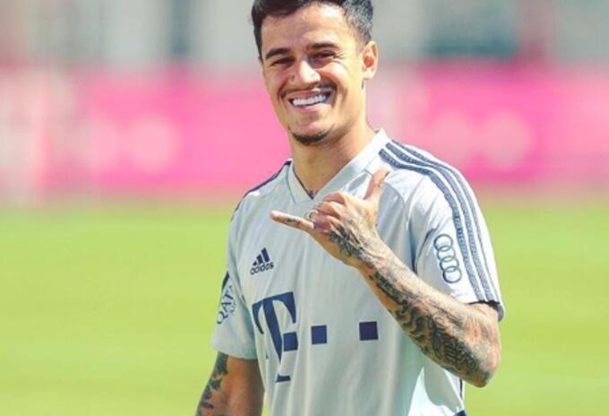Couthinho regresó a entrenamientos