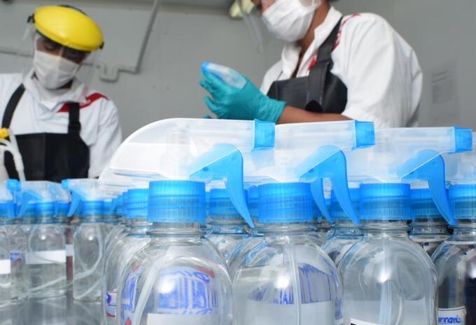 Planta de producción de desinfectante de Cerrejón