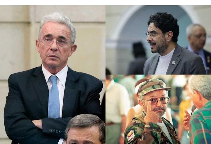 Álvaro Uribe, Iván Cepeda, Raúl Reyes