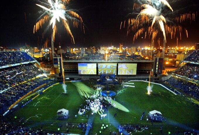 La Bombonera en 2003 con la celebración de Boca Juniors por la Libertadores