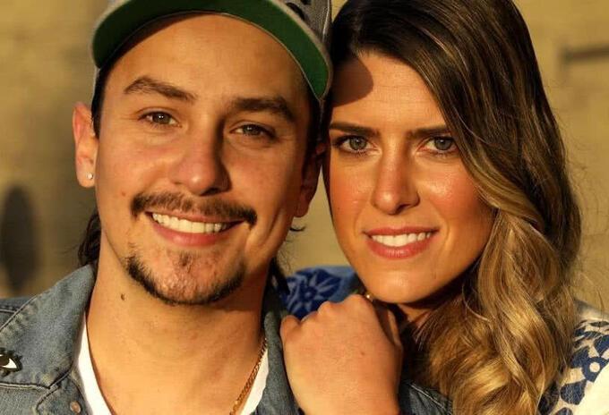 Sebastian Vega y esposa