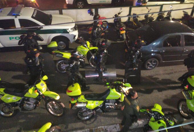 Operativo de recaptura de internos que se fugaron en Copacabana, Antioquia.