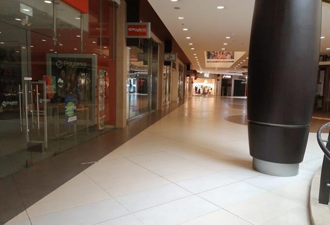 Centros comerciales en cuarentena