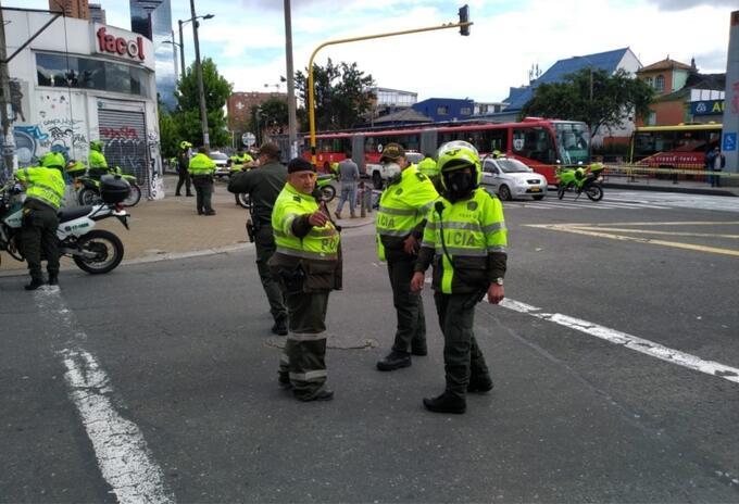 Policías reaccionan a robo en Teusaquillo