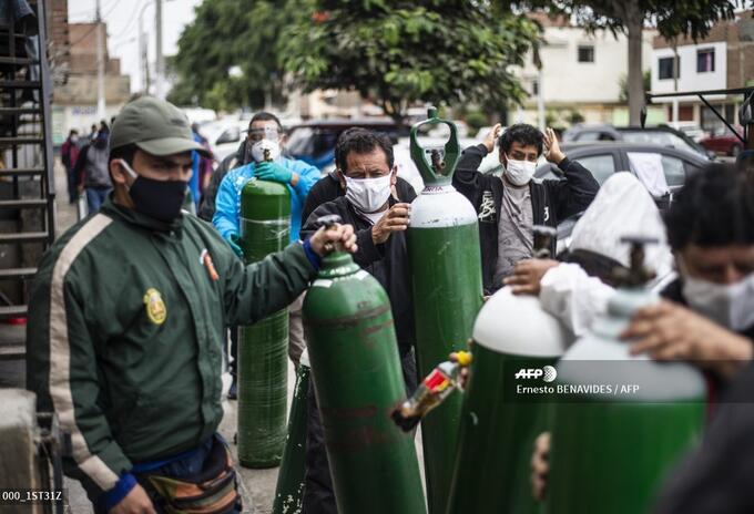 Suministro de oxígeno en el Callao, Perú