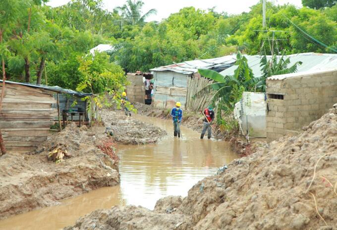Fuertes lluvias afectaron viviendas en este municipio.