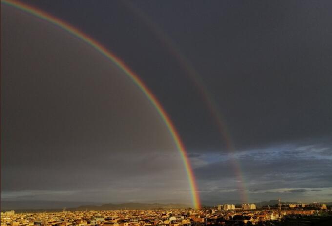 Arcoíris en Bogotá