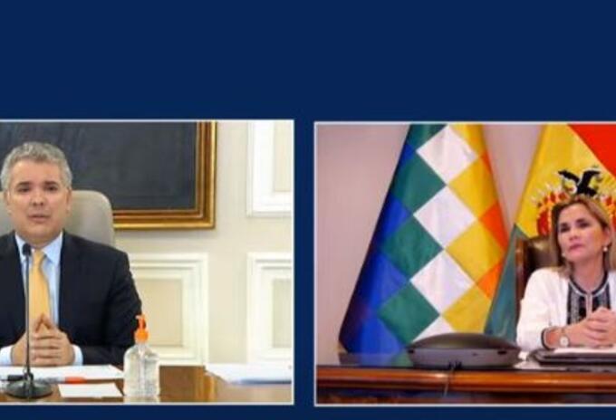 presidente ivan duque presidenta de bolivia jeanine añez