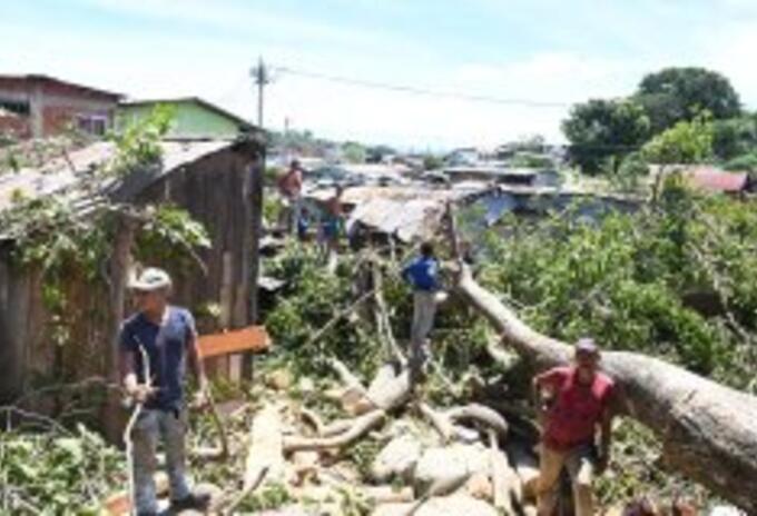 Viviendas, Puerto Boyacá, vendaval, calamidad