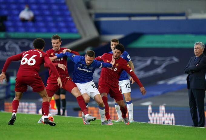 Everton vs Liverpool en medio de pandemia