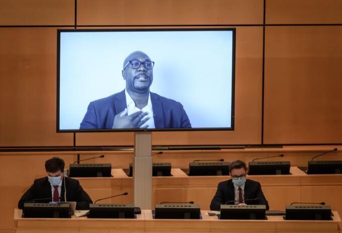 Philonise Floyd, hermano de George Floyd, en debate de la ONU