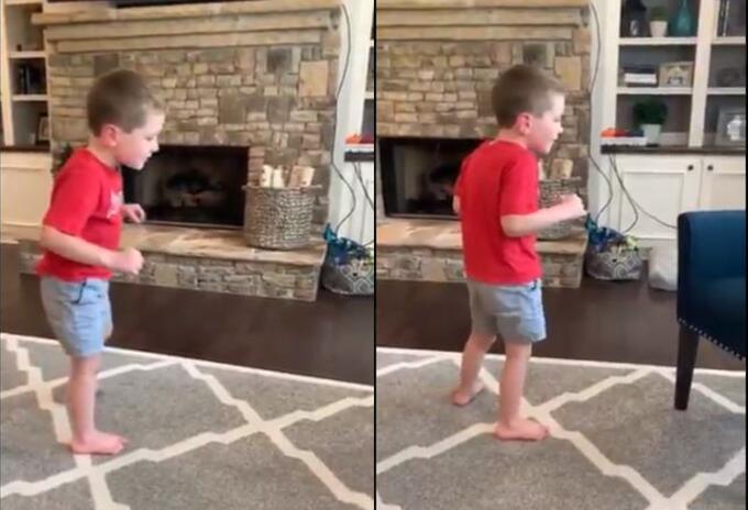 Niño con enfermedad degenerativa logra caminar