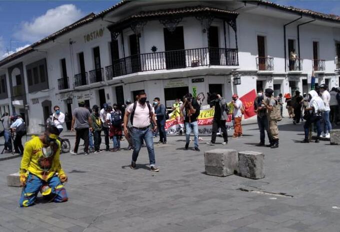 Protesta en Popayán