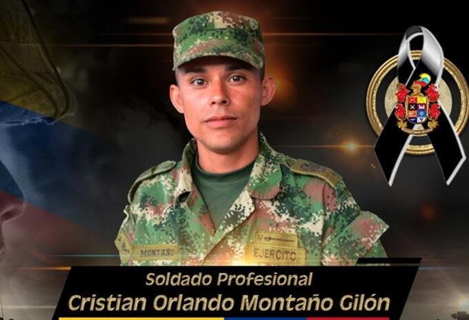 Soldado Cristian Orlando Montaño