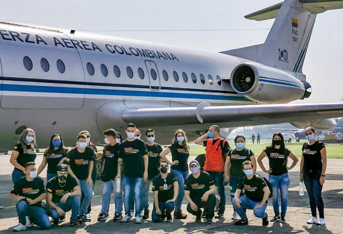 La llegada a Leticia del segundo grupo de la 'Misión Amazonas' que apoyará los servicios de salud en el Hospital San Rafael