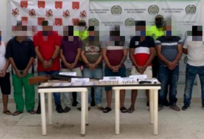 La operación fue realizada en Aguachica, Curumanì y Gamarra, sur del Cesar.