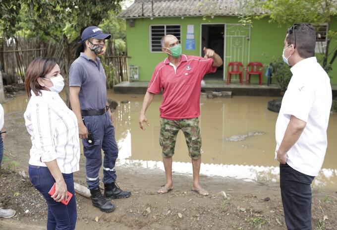 Cinco municipios del Atlántico afectados tras lluvias.