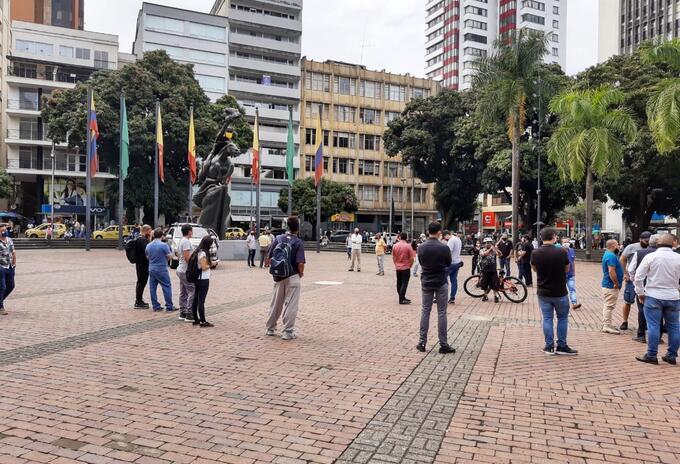 Protesta establecimientos nocturnos Pereira