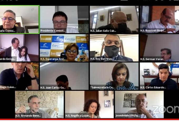 Sesión virtual Comisión Primera