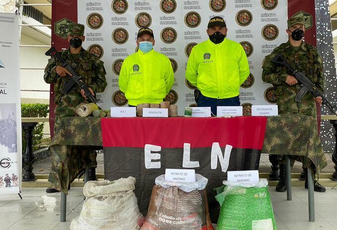 Batallón San Mateo (Pereira) - Incautación material explosivo al ELN
