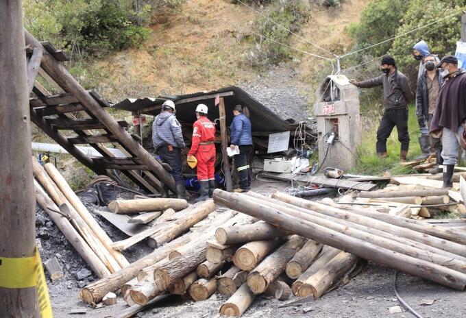 Rescate de mineros en socavón de Lenguazaque (Cundinamarca)