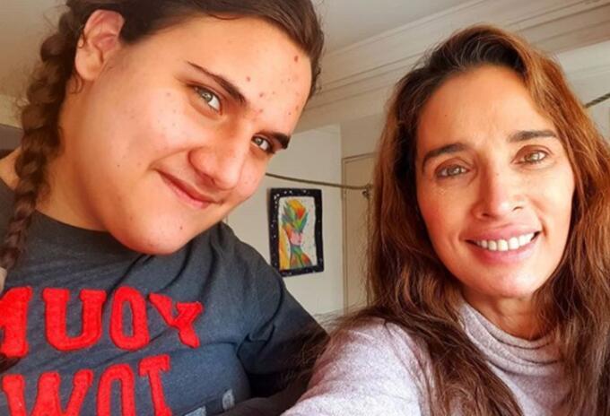 Luly Bossa y su hijo Ángelo