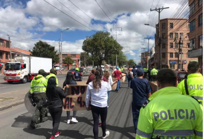 Bloqueos Bogotá
