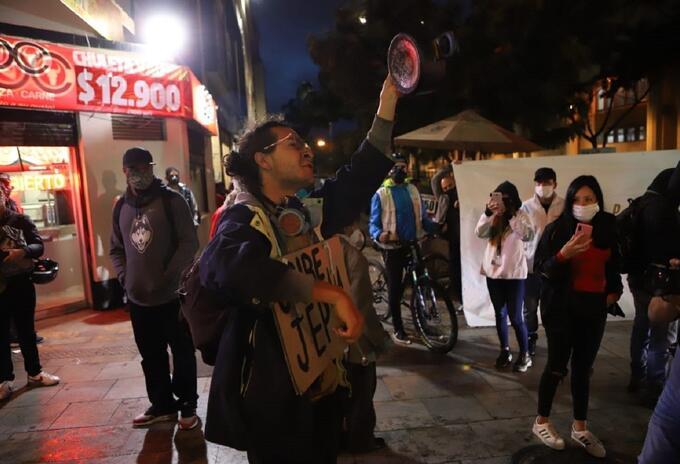 Protestas Bogotá 4 de agosto 2020