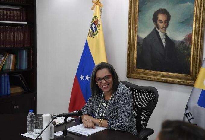 Indira Alfonzo, presidenta del Consejo Nacional Electoral (CNE)