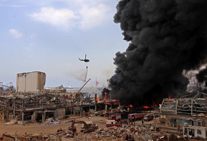 Incendio en Beirut