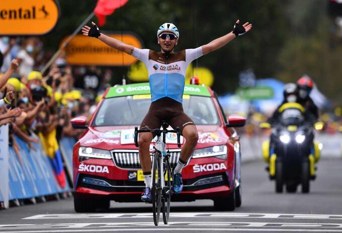Nans Peters, ganador de la octava etapa del Tour de Francia.