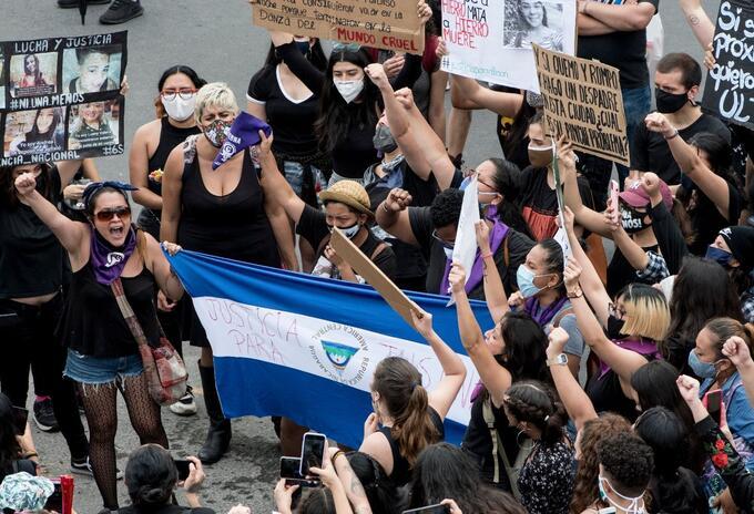 Protesta de mujeres en Nicaragua