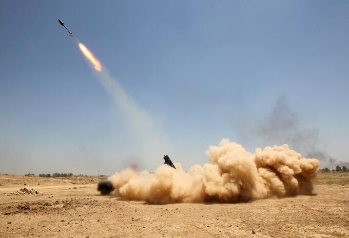 Cohete en Irak