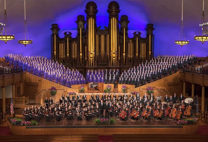 Coro y orquesta del tabernáculo de la manzana del templo