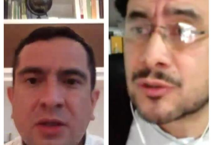 Edward Rodríguez e Iván Cepeda en debate de control político a la justicia.