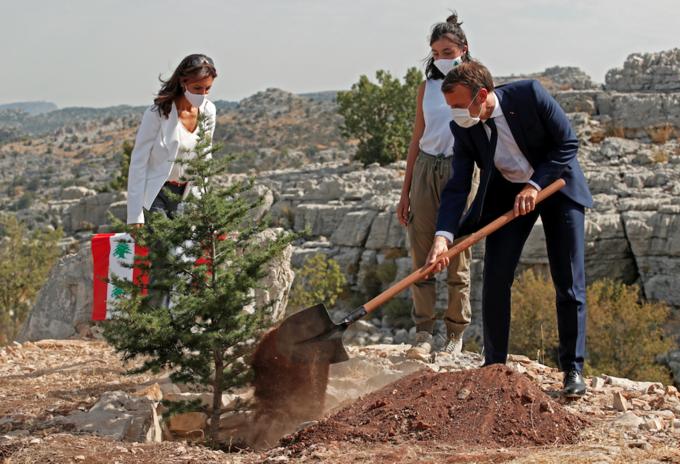 Presidente de Francia Emmanuel Macron en el Líbano