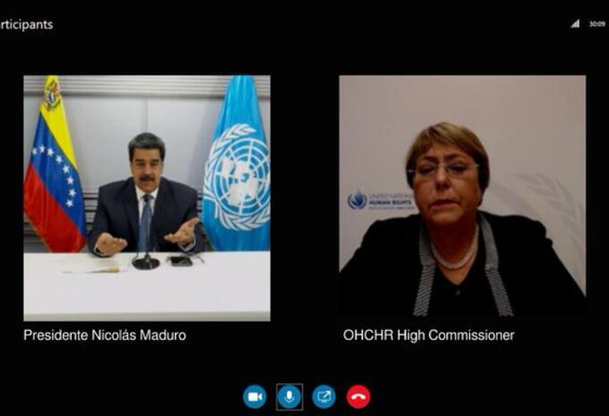 Maduro conversó con Bachelet - @jaarreaza